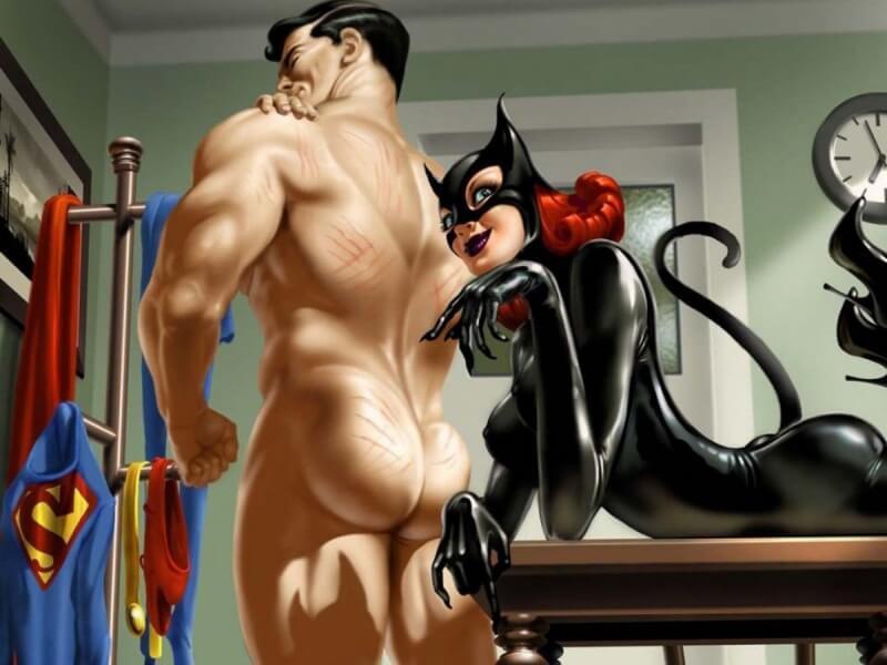 Женщина кошка и супермен