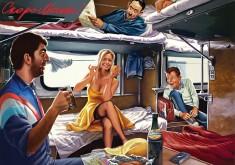 Сексапильная попутчица в поезде