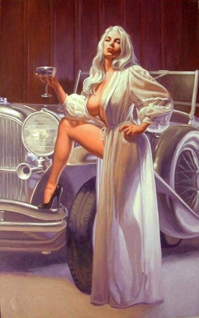 Грациозная женщина в халате