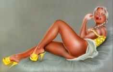 Блондинка в желтеньких туфельках