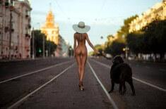 Утренняя прогулка с собакой