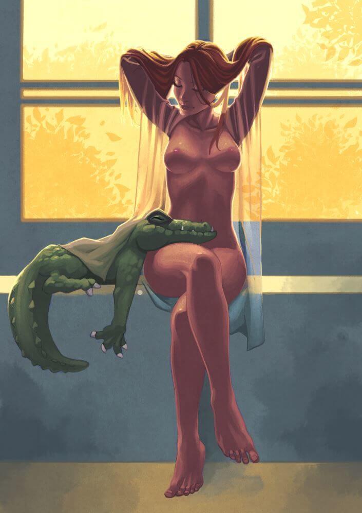 Эротика с крокодильчиком от Antonin Gallo