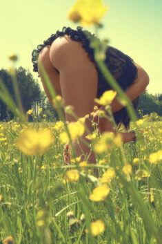 Наклонилась среди поля