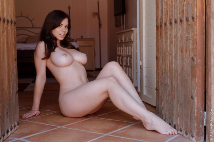 Голая красотка на пороге и другие голые девушки