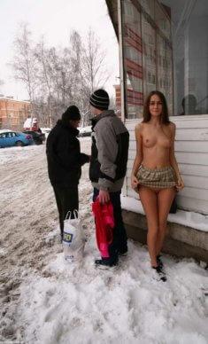 Голая зимой