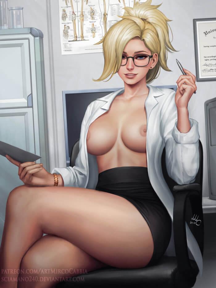 Полуголая секретарша хентай