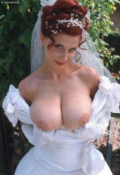 Сиськи невесты